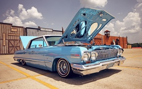Picture style, Chevrolet, the hood, day, lowrider, Chevrolet, usa, impala, Impala