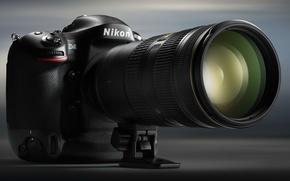 Picture the camera, lens, Nikon D4