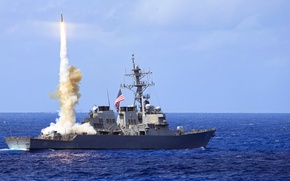 Picture weapons, ship, army, Standard Missile 2 (SM-2), USS Curtis Wilbur (DDG 54)