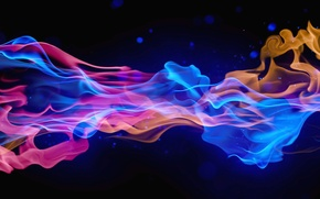 Picture color, abstraction, smoke