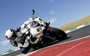 Wallpaper turn, motorcycle, BMW S 1000 RR