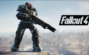 Picture Fallout 4, open world, the X-01, a legendary enclave power armor, (№2)