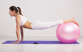 Picture female, ball, pilates, workout