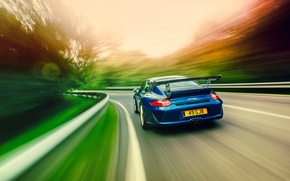 Wallpaper road, speed, Porsche, GT3RS, 997.2