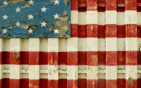 Picture background, the fence, flag