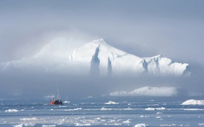 Wallpaper ice, the ship, Iceberg