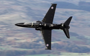 Picture attack, the plane, jet, British, training, subsonic, BAe Systems Hawk Т.1, and easy