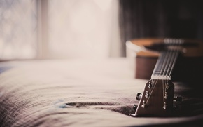 Wallpaper macro, house, guitar