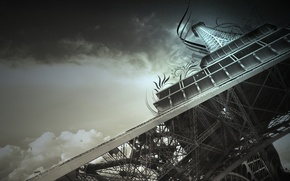 Wallpaper the sky, Eiffel tower, France, Paris