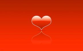 Wallpaper minimalism, Valentin, heart, Holy, heart, lovers