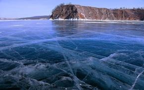 Picture winter, landscape, nature, lake, ice, Baikal