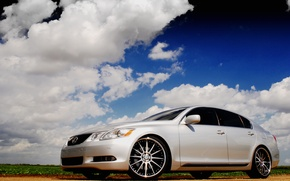 Wallpaper white, drives, Lexus
