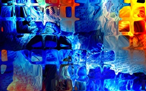 Picture color, abstraction, glass