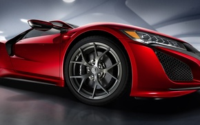 Picture Red, Acura, NSX, Acura