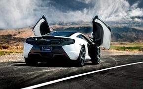 Picture car, auto, back, supercar, McLaren, McLaren MP4-12C