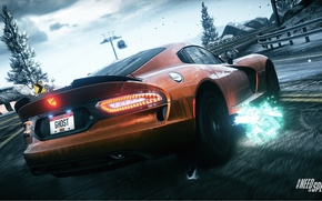 Picture skid, Dodge, Need for Speed, nfs, exhaust, 2013, Rivals, NFSR, NSF, Viper SRT GTS
