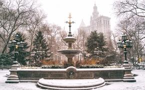 Picture USA, United States, Winter, New York, Manhattan, NYC, New York City, snow, Lower Manhattan, City …