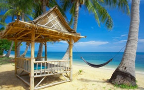 Picture sand, Palma, hammock, Bungalow