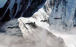 Picture mountains, rock, the plane, Alaska, Pacific Alaska Range Complex, A-10, training flight, Thunderbolt