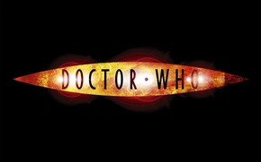 Picture logo, the series, black background, Doctor Who, Doctor Who