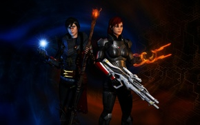 Picture dragon age, mass effect 3, Shepard, Hawke