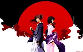 Picture the sun, Japan, katana, kimono, swordsman, rurouni kenshin, that yukishiro tomo, samurai x, the guy …