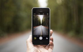 Picture road, camera, phone, iphone, the, iPhone