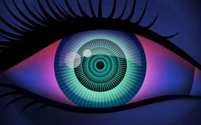 Picture macro, eyes, the pupil, eyelash