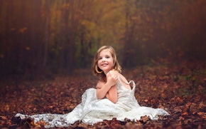 Picture autumn, forest, dress, Wedding Dress, Julia Altork