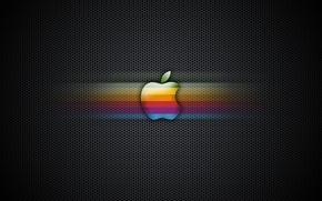 Picture color, mesh, Apple, logo
