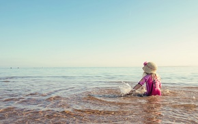 Picture sea, summer, mood, girl
