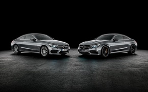 Picture coupe, Mercedes-Benz, black background, Mercedes, Coupe, C-Class, C205