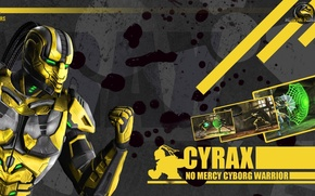 Picture yellow, Mortal Kombat 9, cyborg, Cyrax