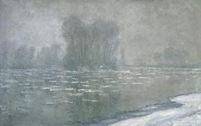 Picture landscape, picture, Claude Monet, Ice. Misty Morning