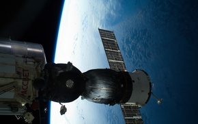 Picture Space, Union, Roscosmos, Earth, A Russian spaceship