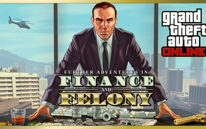 Picture table, money, office, dollars, the leader, Boss, gta online