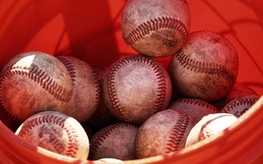 Wallpaper sport, balls, basebal