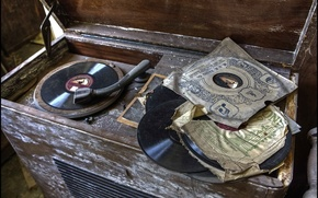 Picture music, gramophone, records