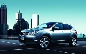 Picture road, machine, city, city, home, nissan, cars, Nissan, roads, widescreen walls
