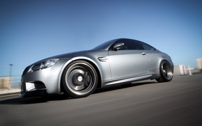 Picture grey, coupe, speed, blur, BMW