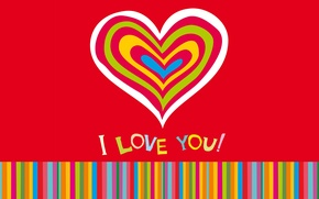 Wallpaper hearts, hearts, I love you, love, romantic, sweet, colorful, love, background