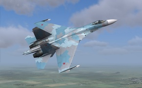 Picture weapons, the plane, Su-27