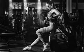 Picture pose, black and white, gloves, sport, white, fitness, black, fitness, gym, fitness model, fitness model, …