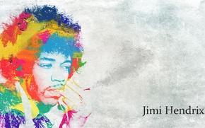 Picture style, guitarist, psychedelic, composer, iridescence, Jimi Hendrix, Jimi Hendrix, singer