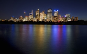 Picture night, Australia, Sydney, night, Australia, Sydney, Downtown Skyline