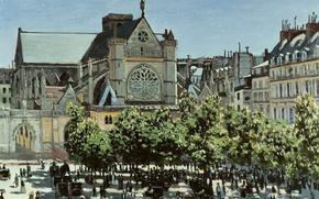 Picture picture, Church, the urban landscape, Claude Monet, Saint-Germain-l Osera