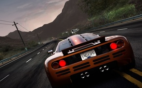 Picture road, power lines, Need for Speed: Hot Pursuit, mountains, machine