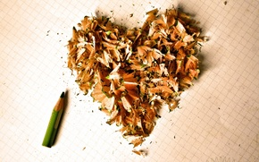 Picture background, heart, pencil