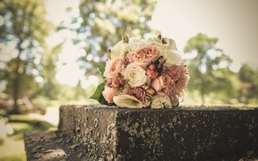 Picture flowers, roses, wedding bouquet