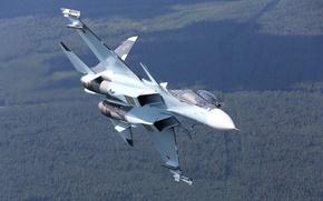 Picture flight, fighter, Russian, multipurpose, double, Su-30CM